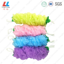 Shine Color Long Bath Belt Sponge