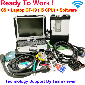 MB Star C5 2020 SD Connect C5 with newest software 2020.12 diagnostic tool mb star c5 vediamo/X/DSA/DTS with CF19 Laptop