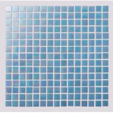 Light Blue Watercolor Glass Mosaic Tiles For Toilets