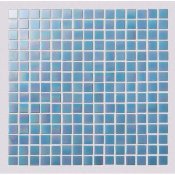 Light Blue Glass Mosaic Tiles For Hotel Toilets