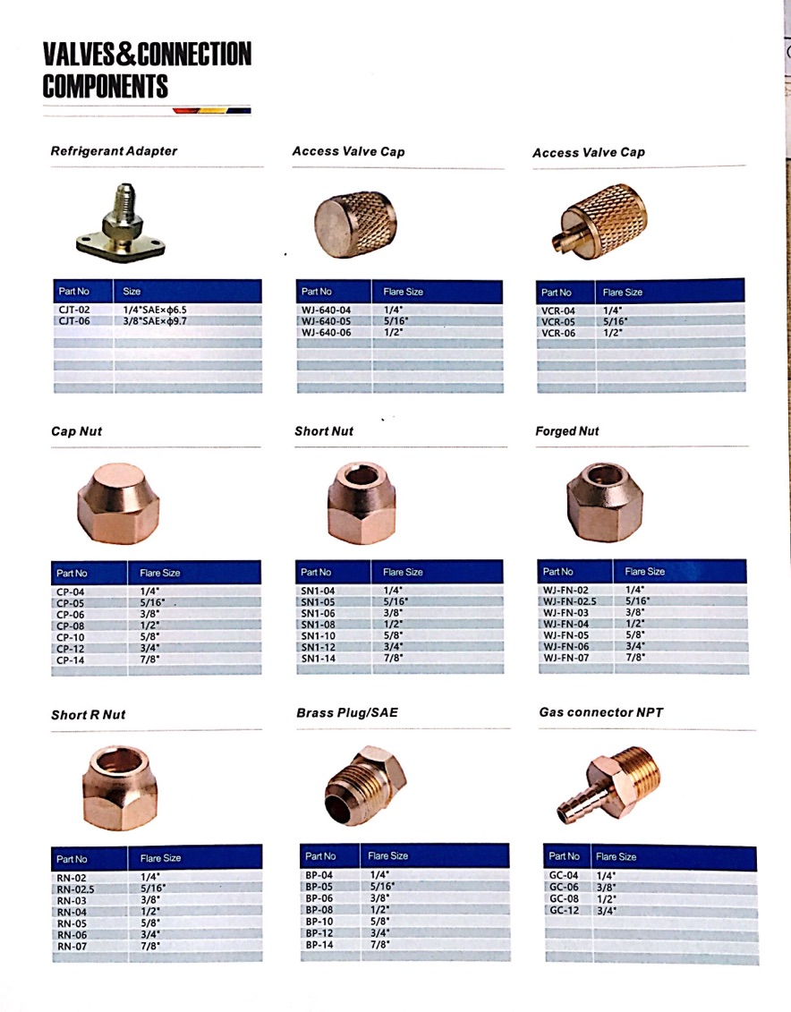 refrigeration brass fitting