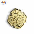 Customized gold metal logo cheap badges