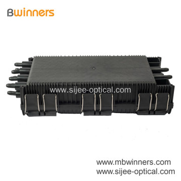 6 In Port 8 Out Port Fiber Optic Splice Closure Box  96 Core