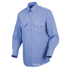 long sleeve 100% designer custom blue security uniform