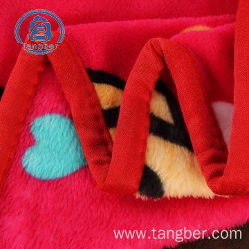 100% polyester fleece blanket printed flannel fabric