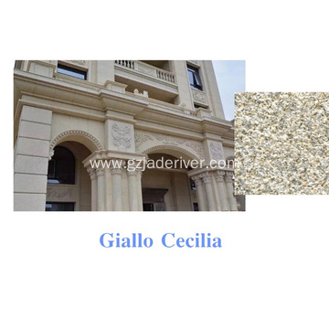 Giallo Cecilia Granite Stone for Wall