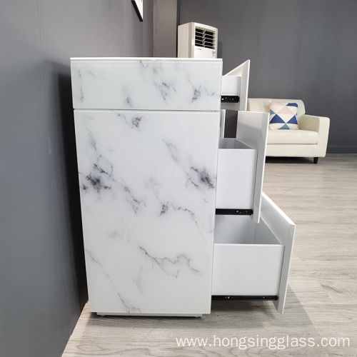 white marble glass MDF dressing table