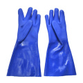 Blue PVC coated gloves 16''