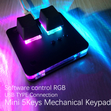 OSU Mini Keyboard Touch Wheel Axle Tester Gaming Keypad Osu support Cheery Mx Red Switch Macro DIY Gaming Mechanical Keyboard