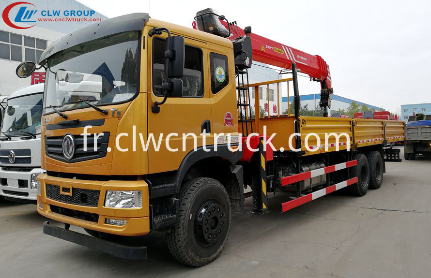 truck with loading crane logo