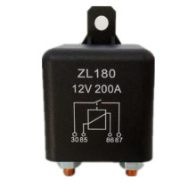 High power 200A/DC12V/24V/48V Relay 4 Pin For Car Auto Heavy Duty Install car continuous relay for Amp Style