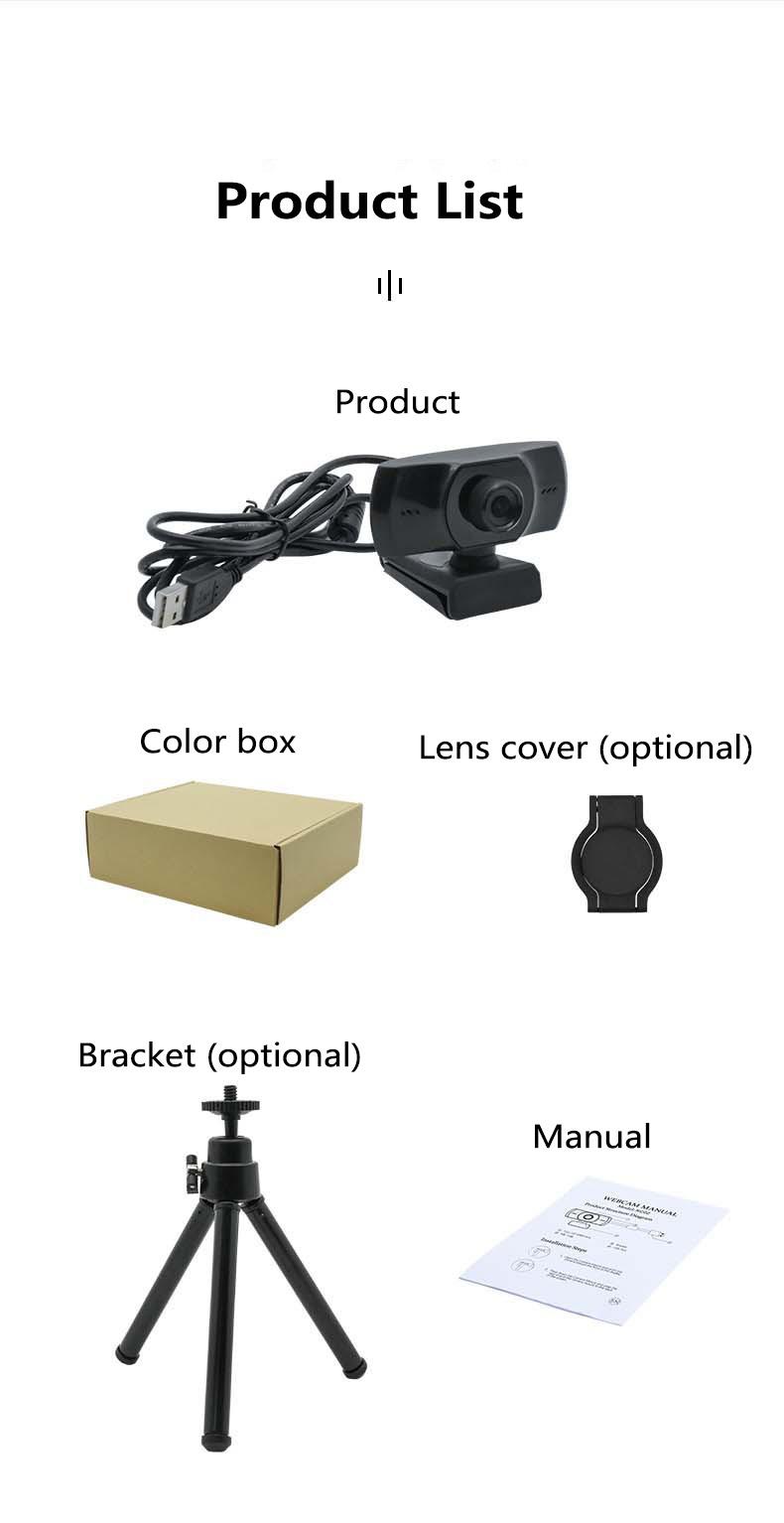 KC02 Autofocus Webcam With Tripod 1080P Web Camera With Microphone For Pc/Computer Usb Camera Web Cam Webcam Full Hd