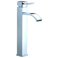 Single lever brass vanity basin mixer faucet tall