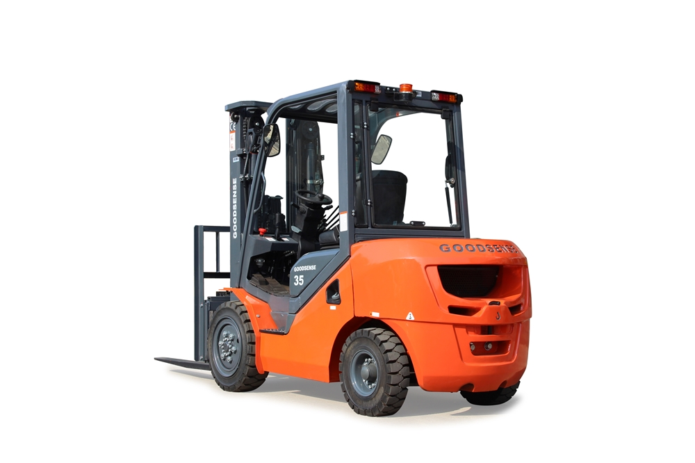 Goodsense S Series Suspension 2 3 5 Ton Diesel Forklift With Optional Front Rear Glass