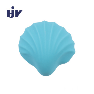 Seashell Silicone Rubber Furniture Knobs For Kids Bedroom