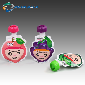 Customized Food Packaging Reusable Special Shape Pouch
