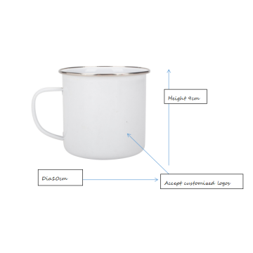 Simple design white camping mug
