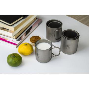 Outdoor Pure Titanium Folding Cup