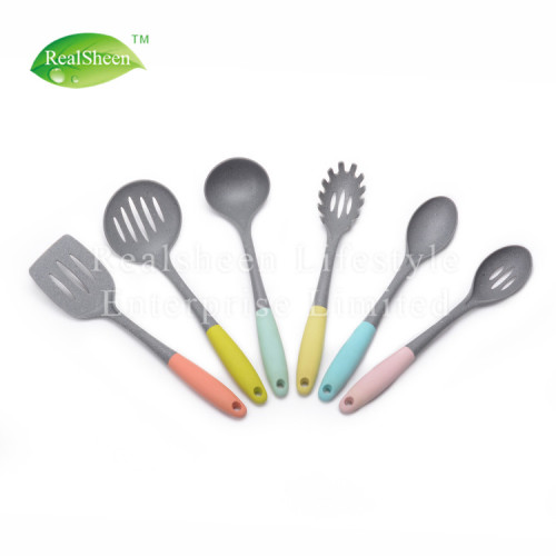 Marble Grain Nylon Tools With Colorful TPR Handle