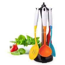 Multifunction Silicone Handle Nylon Kitchen Utensils
