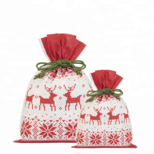 Red Christmas Gift Pacakging Bags Nordic Style