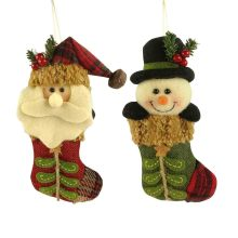 Christmas 3D santa claus and snowman ornaments decorations