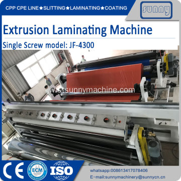 Mesin Coating Extrusion Laminating Mesin T-Die tunggal