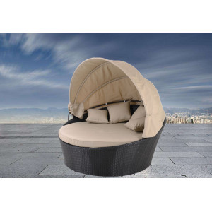 steel round sofa with canopy