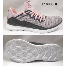ladies casual flyknit sports breathable running shoes