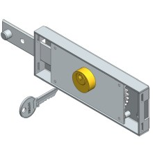Left side roller shutter lock straight bolt