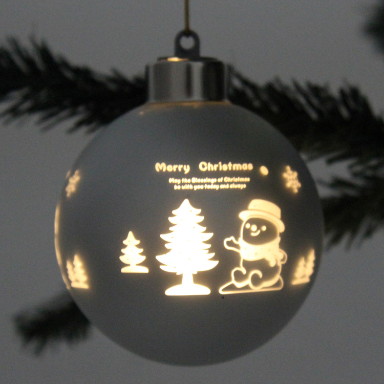Laser Cut Glass Christmas Ball