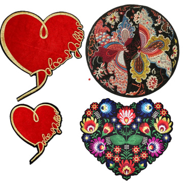 Heart Shape Butterfly 3d Embroidery Flower Patches