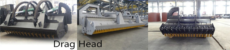 Marine welded drag heads design