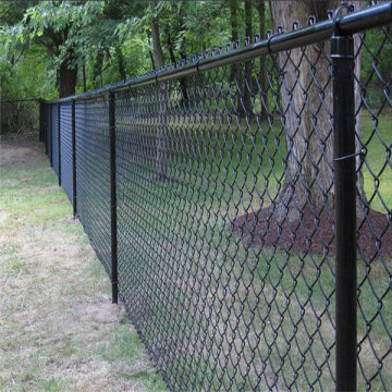 boundary wall pvc coated wire chain link fence