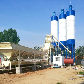 mini high quality mix concrete batching plants hzs75