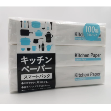 Kitchen paper for oil and water absorption