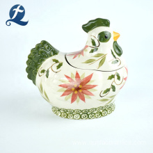 Hot Selling Cute Cock Shape Custom Home Decor Ceramic Coin Bank
