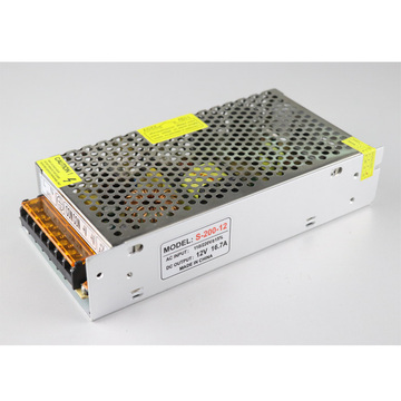 12V 16.7A 200W LED Power Supply DC Outlet