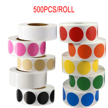 500pcs round color code dot seal Chroma label sticker 1 inch red, green, white, yellow, blue, pink, black stationery stickers