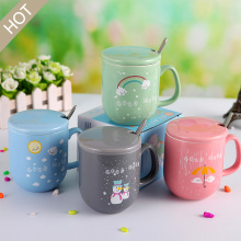 Cartoon Shape Ceramic Cup with Cover