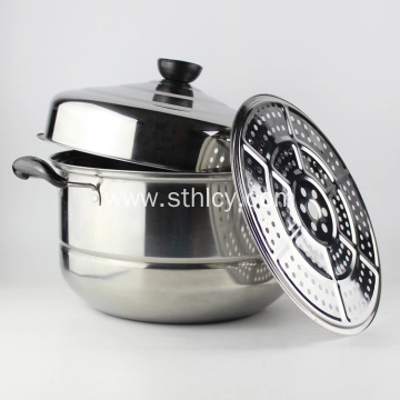 3-Tier Stainless Steel Compound Bottom Steamer Pot