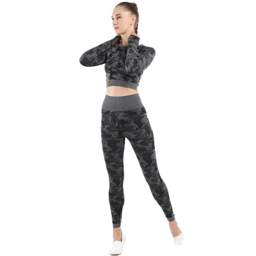 Camo Yoga outfits leggings for woman