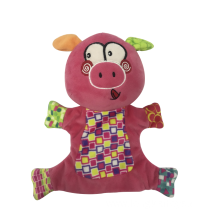 Hand Puppet Pig Plum Purple