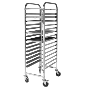 Stainless Steel 304 Single-Line Cake Pan Trolley