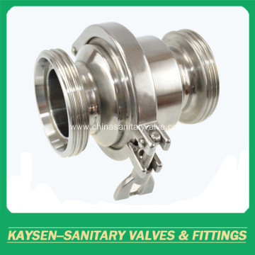 DIN Sanitary Hygienic Non-Return Valves Male Ends