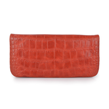 Handmade Crocodile Genuine Real Leather Women Clutch Bag