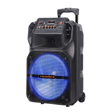 15''Portable Bluetooth Trolley Rechargeable Speaker With Mic