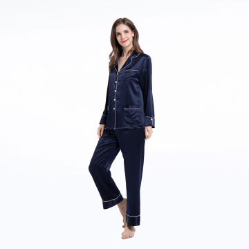 Luxury Silk Pajamas Sets Ladies Two piece Pants