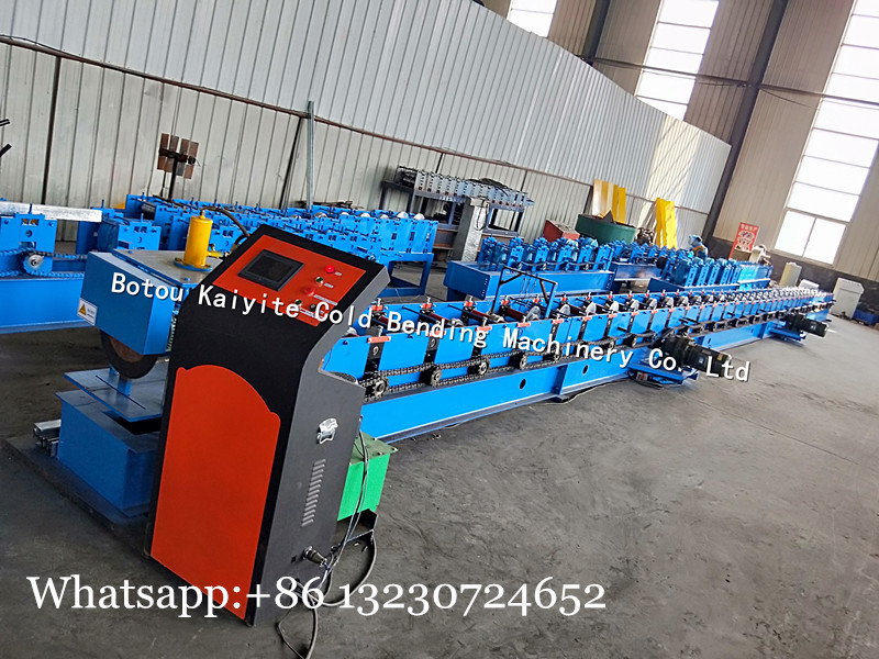 rolling shutter guide track machine
