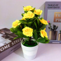 1Pc Potted Handmade Artificial Flower Bonsai Stage Garden Wedding Fake Flower Office Home Party Wedding Decor Props Potted plant
